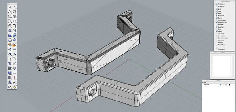 Computer Aided Design (CAD) Designing A Part For A 3D Printer