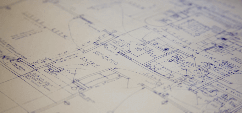 Blueprints For A Contruction Project