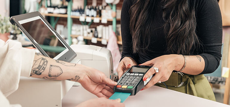 Merchant Taking Credit Card Payment
