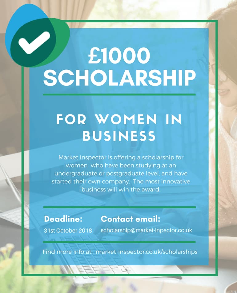 Women in Business Scholarship | Market-Inspector
