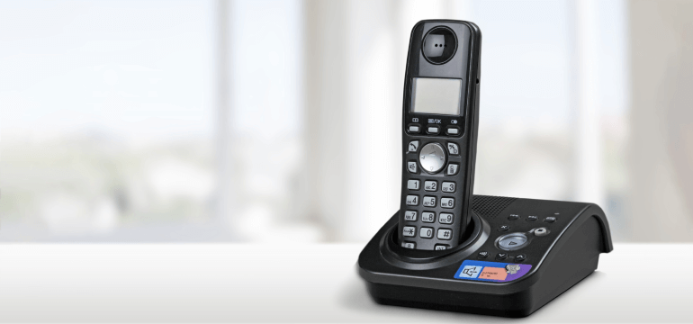 Black Cordless Phone
