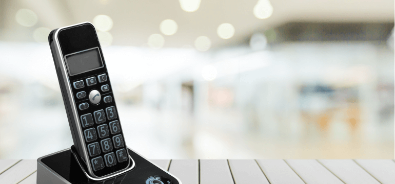 Black Amplified Cordless Phone