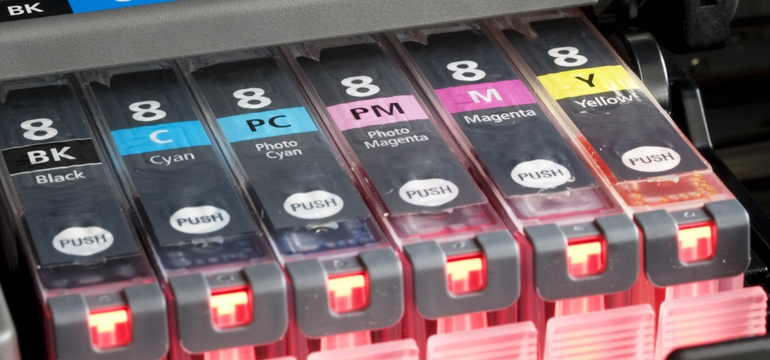 Black Cyan Magenta And Yellow Inkjet Toner Ink Cartridge