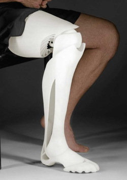 3D Printed Medical Prosthetic Leg Sitting