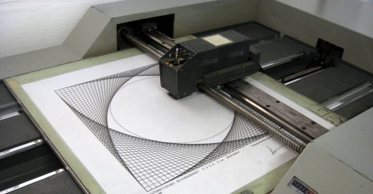 Art Being Produced In A Large Format Printer